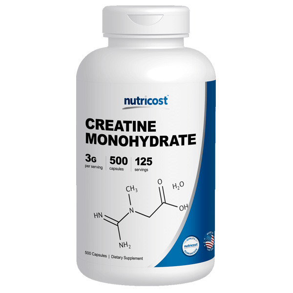 [헬스보충제] 뉴트리코스트 모노크레아틴 대용량 500캡슐