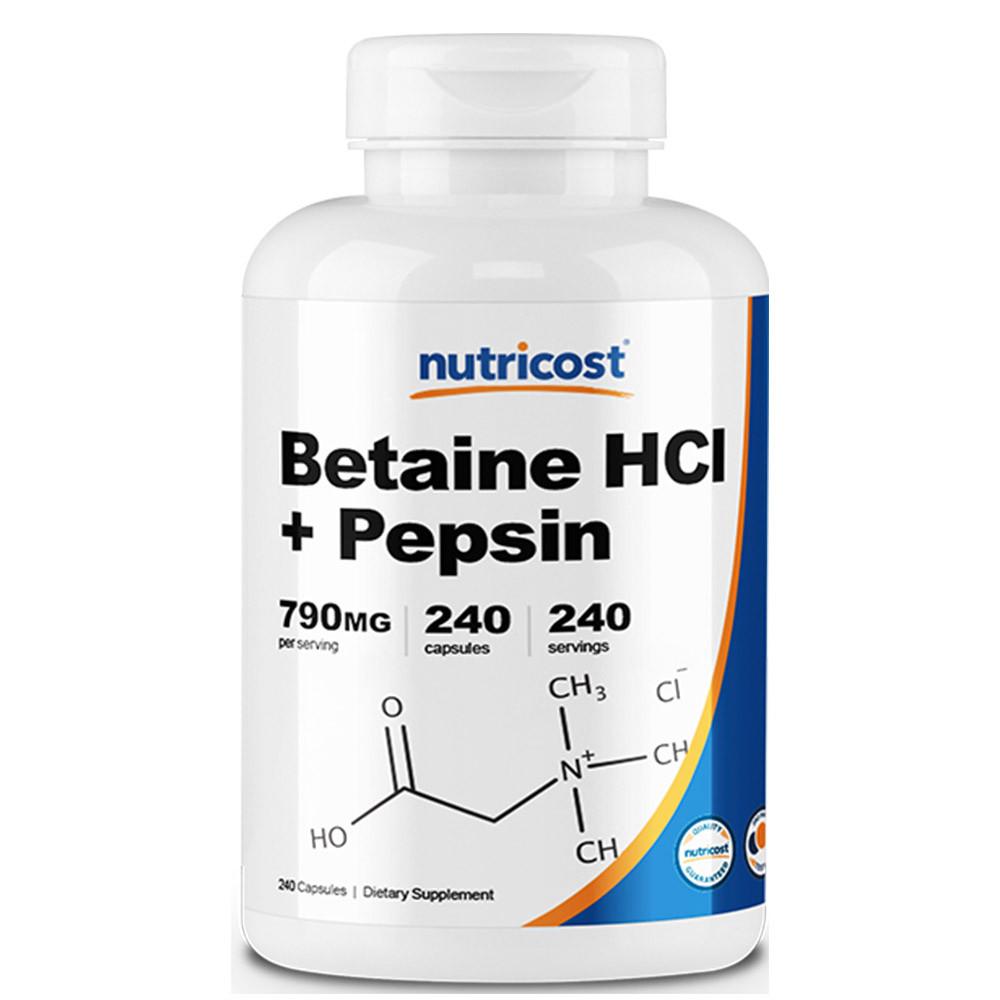 뉴트리코스트 베타인 HCI + 펩신 240캡슐
